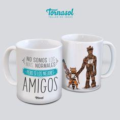 Taza | Amigos Breakfast In America, Mugs, Cool Stuff, Tableware, Diy, Marvel, Calla Lilies, Block Prints, Amor