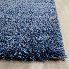 Safavieh California Shag Navy 5 ft. 3 in. x 7 ft. 6 in. Area Rug - SG151-7070-5 - The Home Depot