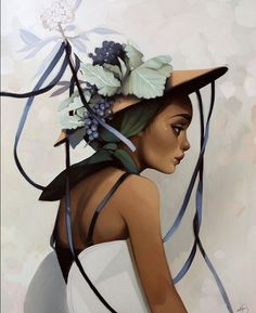 """Artist: Kelsey BeckettTitle: Romancing Ribbons into FlowersMedium: oil on panelDimensions: x This work is featured in """"Brides of Summer"""" a solo show by Kelsey Beckett - on view November - November 2017 at SPOKE SF. Classic Paintings, Beautiful Paintings, Beautiful Images, Kelsey Beckett, Spoke Art, Digital Art Girl, Editorial Photography, Photography Magazine, Traditional Art"""