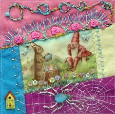 I ❤ crazy quilting, beading & embroidery . . . Sondra Sweeney, Embellished Block for Thearica Burroughs- Crazy Quilt Divas 2014 Round Robin