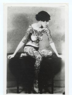 Another tattoo lady from Victorian era