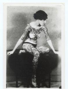 tattoo lady from Victorian era