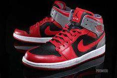 finest selection cc03c de569 Air Jordan 1 - Fire Red  Black - Cement Grey - Reflective Silver  MensFashionSneakers
