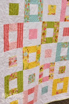 Baby quilt made with a Layer cake!