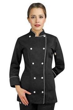 Filipina para Chef Urban (Dama) School Pinafore, Chef Costume, Apron Designs, Master Chef, Churros, Chefs, Chef Jackets, Couture, Coat
