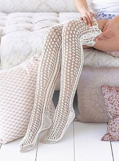 Knitting Sock...I remember wearing stockings like these!