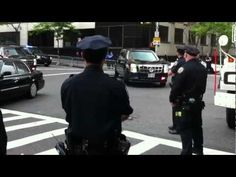 OBAMA'S PRESIDENTIAL MOTORCADE IN NEW YORK, NYPD, NYPD ESU, FDNY, U.S. S...