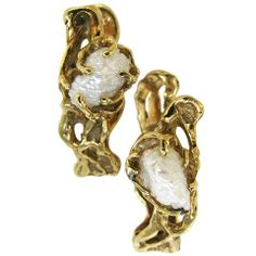 Arthur King Pearl Gold Cufflinks c1970