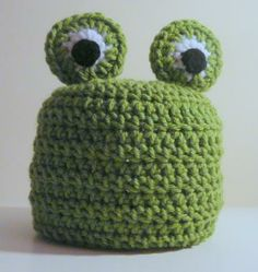 Frog Hat PDF Crochet Pattern - Newborn to Adult by HGSDesigns for $4.50