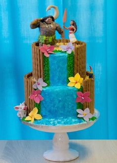 Moana cakes for children's parties Moana Party, Moana Birthday Party, Luau Birthday, 6th Birthday Parties, Girl Birthday, Moana Theme, Birthday Ideas, Hawai Party, Luau Party