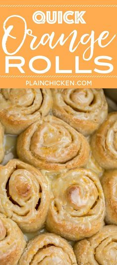 Quick Orange Rolls recipe with canned French bread dough Quick Orange Rolls recipe – AMAZING! We eat these almost every… Brunch Recipes, Breakfast Recipes, Dessert Recipes, Desserts, Breakfast Buffet, Granulated Sugar, Powdered Sugar, Orange Sweet Rolls, Biscuit Bread