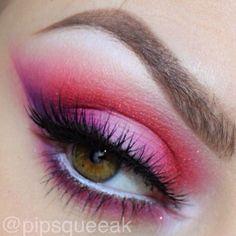 Hot pink eyeshadow - @ pipsqueeak