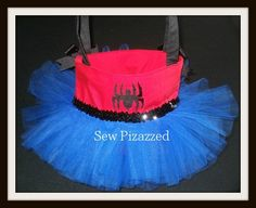 Spider Girl Super Hero Tutu Tote Bag by SewPizazzed on Etsy, $32.00