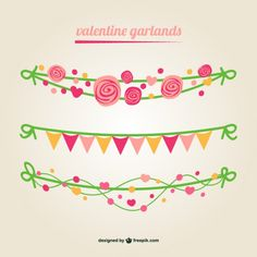 Guirlandas Vector Valentine