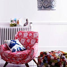 Wohnzimmer mit übereinstimmende Muster Wohnideen Living Ideas Interiors Decoration