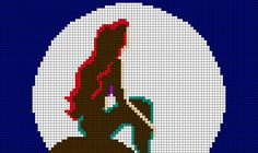 Ariel - The Little Mermaid perler bead pattern