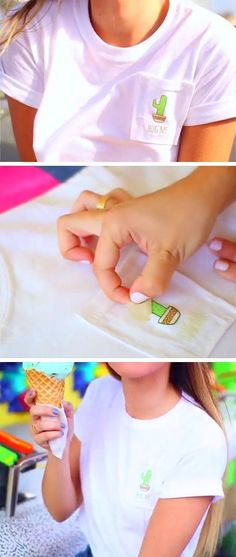 DIY Summer T-shirt | 15 DIY Summer Clothes for Teens Tumblr | Easy Summer Fashion Ideas for Women to Make