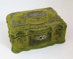 French Art Nouveau Antique Velvet Jewelry Box   eBay