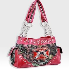 Handbags, Bling & More! Pink Forest Print Red Neck Camo Guns Purse W Matching Wallet : Matching Sets Redneck Woman, Camo Guns, Pink Forest, Funny Fashion, Discount Jewelry, Purse Styles, Pink Camo, Balenciaga City Bag, The Ordinary