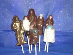Star Wars chocolate lollipops
