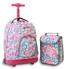 Girls Bow Trolley School Bags Cartoon Transformer Trolley School ...