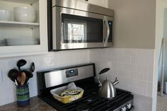 Chic meets Healthy: HOW TO INSTALL SUBWAY TILE BACK SPLASH
