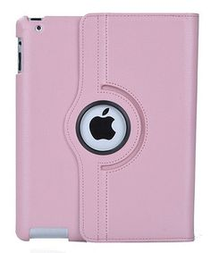 Light Pink Faux Leather Rotating Case for iPad by  #zulily #zulilyfinds