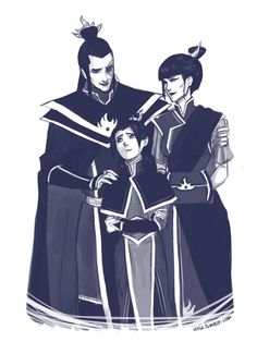 """Don't worry. They will like you. It's just I wanted to draw some Zuko family..I don't know, in my head Honora might not know Kataang kids for a while.. Considering they all live in Republic city and Zuko and his family is rather far away in the fire nation, busy with all royalty duties. So this is kind of an important meeting, in which Zuko will finally introduce his daughter to those kids:D And she's is kind of worried hehe but of course they will like her:D"" <-- Awesome :33"