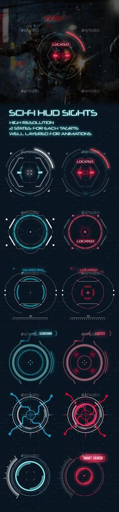 Buy Sci-Fi HUD Elements for Games by anchor_point_heshan on GraphicRiver. Sci-fi game UI kit This contains modern and futuristic Sci-fi sights for your next sci-fi project. These elements can. Ui Design, Game Design, Layout Design, Graphic Design, Gui Interface, Interface Design, Ui Elements, Design Elements, Jeopardy Game Template