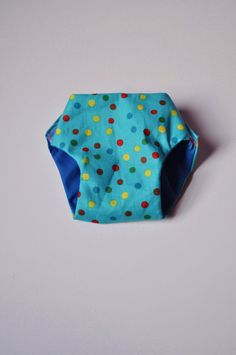 Cloth Doll Diaper in Blue Polka Dot by littleashleighs on Etsy