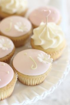 Pink and Yellow Pastel Cupcakes