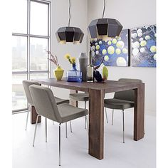 CB2 blox 35x63 dining table | $499