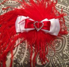 Baby Girl Valentine Heart Bow for Interchangeable Headband