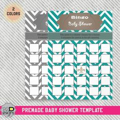 INSTANT DOWNLOAD  Baby Shower Bingo Game Printable by ONESMFA, $5.00