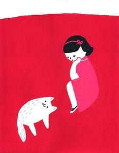 a menina e o gato
