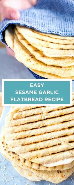 With a few simple ingredients and about 1 hour of hands-off proofing time, you can make soft and fluffy flatbread from scratch. #bread
