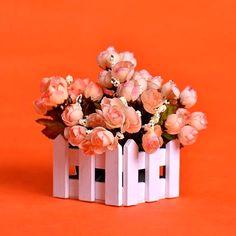 Wooden Flower Vase Pot Home Decorations Bonsai Rectangle Basket Home Decoration - free shipping worldwide
