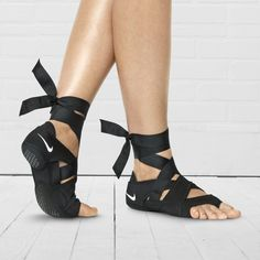 So obsessed with these sweet yoga sandals!  Nike Studio Wrap Pack