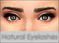 Mod The Sims - Natural Eyelashes -5 colors-