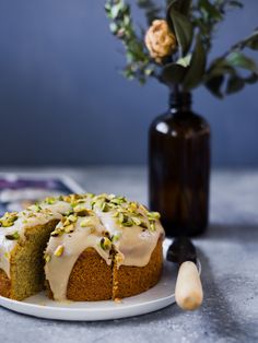 """Polenta Cake from """"The New Vegan"""" – The Blue Bride"""