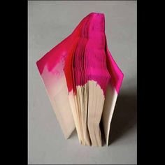 #DIY:  I love this idea dip dye a paper notebook to make an abstract art journal #dye #pink
