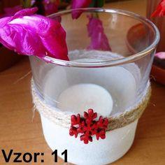 Sklenený svietnik Adam - Sviečka - S čajovou sviečkou (plus 0,10€), Vzor - Vzor 11