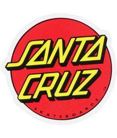 Santa Cruz Stickers, Santa Cruz Logo, Dot Logo, Old School Skateboards, Rock Style, Rock Chic, Metal Mulisha, Hand Logo, Skateboard Art