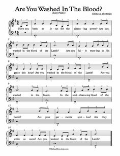Free Piano Arrangement Sheet Music – Are You Washed In The Blood? Gospel Song Lyrics, Christian Song Lyrics, Fun Songs, Music Songs, Indie Music, Praise Songs, Worship Songs, Family Day Quotes, Beginner Piano Music