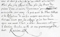Autographe de Jean Racine