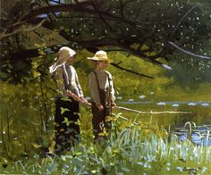 View Fishing by Winslow Homer on artnet. Browse upcoming and past auction lots by Winslow Homer. Watercolor Artists, Watercolor Landscape, Watercolor Paintings, Watercolors, Watercolor Portraits, Oil Painting On Canvas, Figure Painting, Winslow Homer Paintings, Art Aquarelle