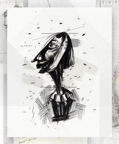 "40 Likes, 1 Comments - Eglė Uleckienė (@egleillustration) on Instagram: ""Daily Sketch Challenge*38-Teacher. #illustrationartists #illustration #sketch #sketch_daily…"""