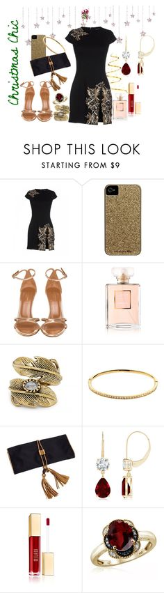 """""""Christmas Chic"""" by krissel1 on Polyvore featuring moda, Dsquared2, Case-Mate, Aquazzura, Chanel, Natalie B, Melissa Odabash, Gucci y Jewelonfire"""