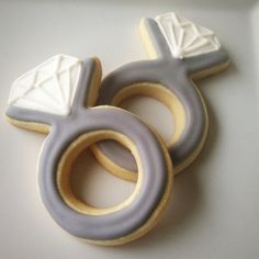 Engagement Ring Cookies / Diamond Ring Cookies #Etsy $36/12