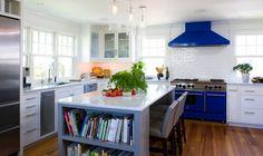 diseño original moderno de cocina con isla
